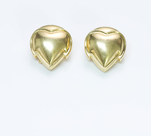 Van Cleef Arpels 18K Gold Heart Earrings