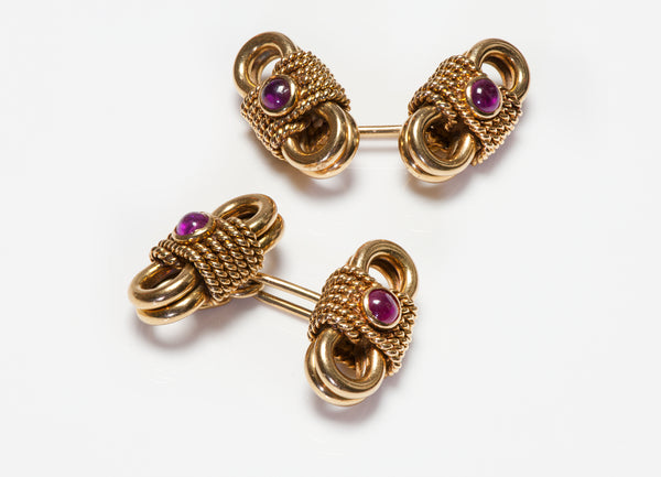 Van Cleef & Arpels Rope Ruby Cufflinks