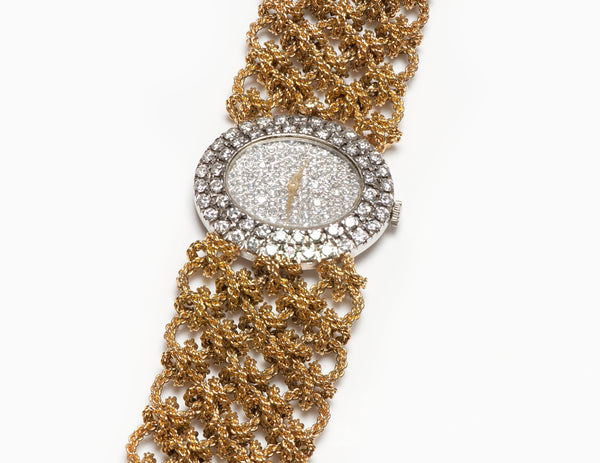 Gold Diamond Watch Bracelet