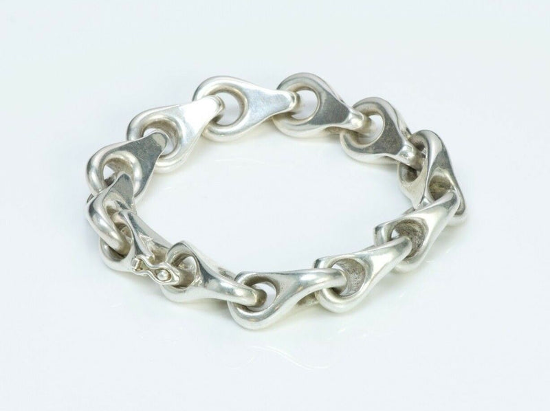 French Silver Link Chain Bracelet-2