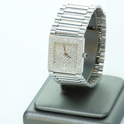 Z Design 18K White Gold and Diamond Watch