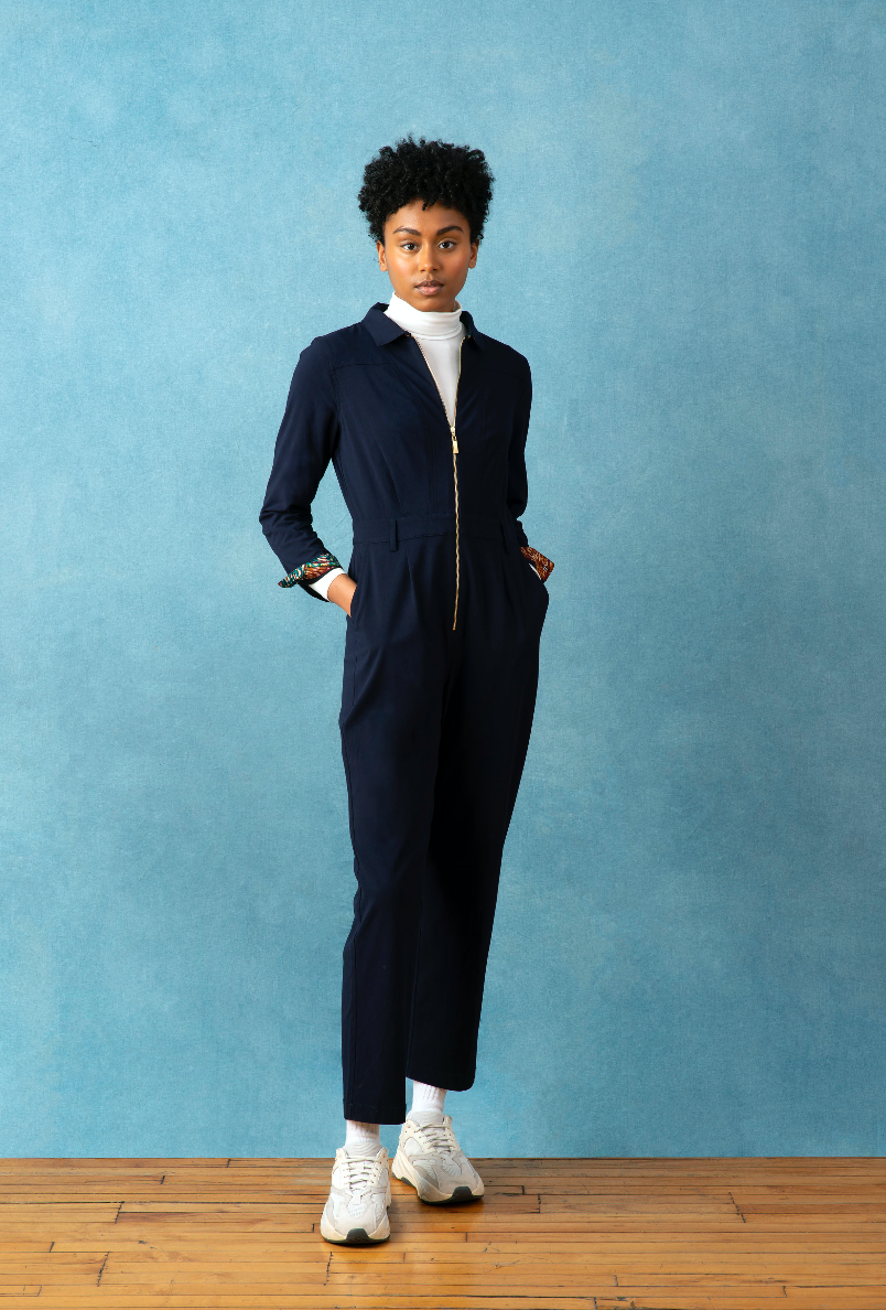 Boiler Jumpsuit | Navy Blue