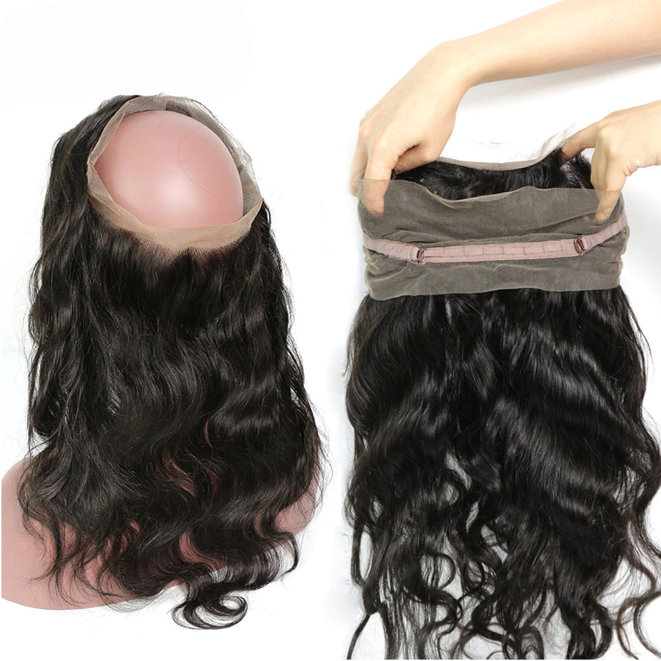 Body Wave Human Virgin Hair 1pc 360 Lace Frontal