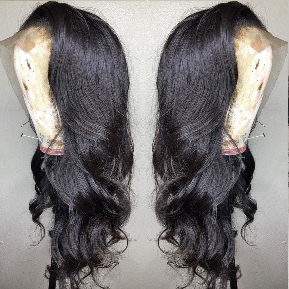 180% Density Full Lace Human Hair Wigs,  Body Wave lace wig,12-26inch