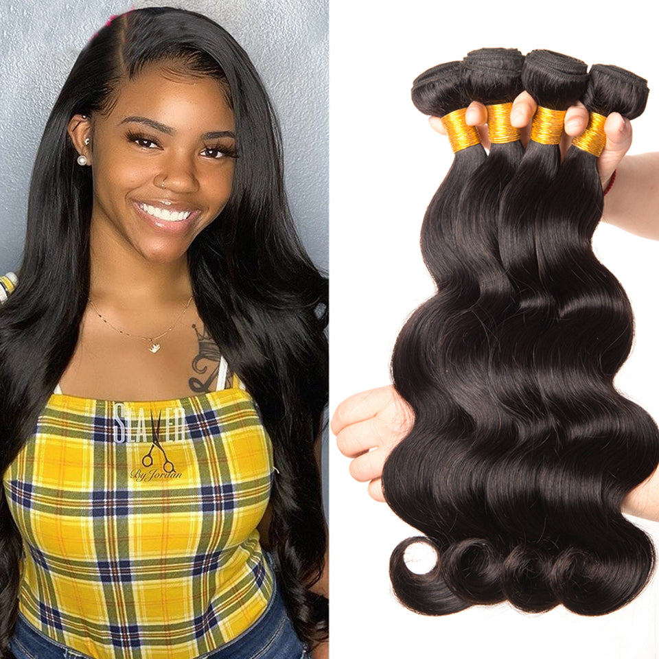 4pcs/lot virgin malaysian body wave, 8-30inch, 100% virgin human hair weaves