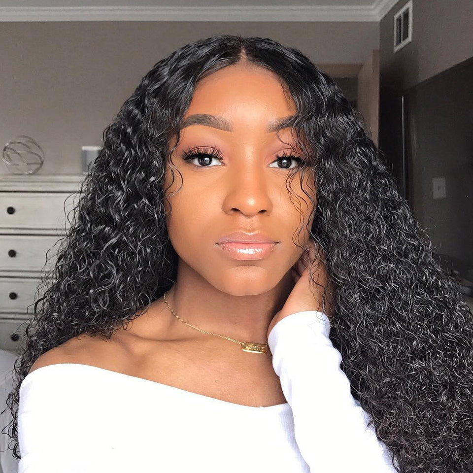 180% Density Full Lace jerry Curly Human Hair Wigs,  12-26inch