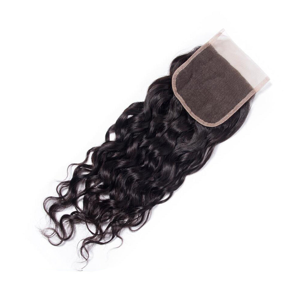 Water Wave Human Hair 4x4/5*5/6*6 Lace Closure 1pc,free part