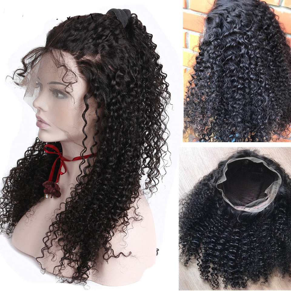 13*6 Jerry Curly Lace Front Human Hair Wig, 150%/180% Density