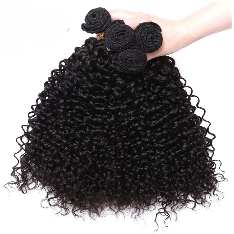 3 bundles malaysian jerry curly hair weaves Deals on sale