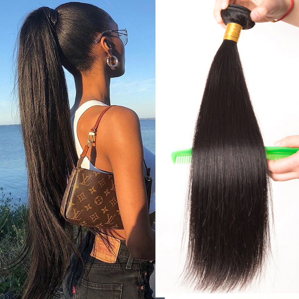 100% Virgin Straight Human Hair 1 Piece/Pack