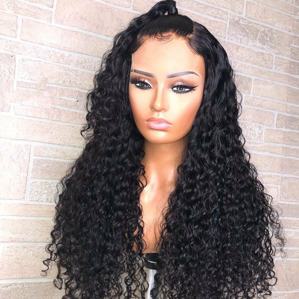 13*6 Deep Wave Lace Front Human Hair Wig, 150%/180% Density