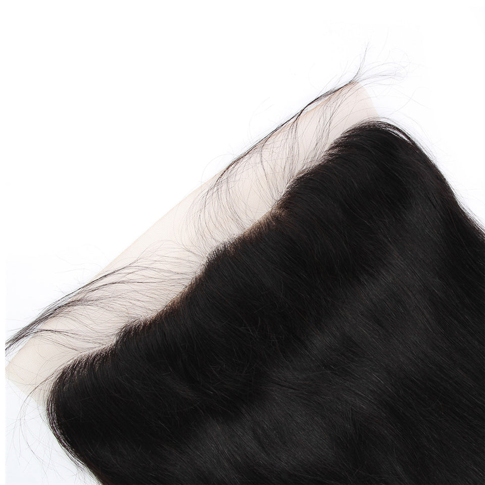 indian Virgin Straight Hair 3 Bundles with 13*4/13*6 Lace Frontal Closure