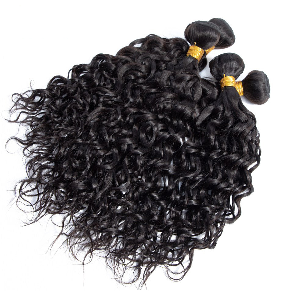 4pcs/lot virgin brazilian water wave hair weave, 8-30inch, 100% virgin human hair bundles
