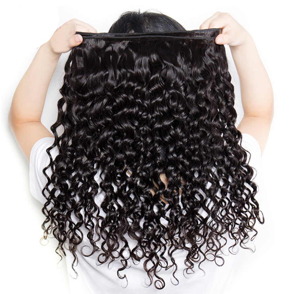 1 Bundle Water Wave Virgin Human Hair Weaves, Natural Color 8-30inch