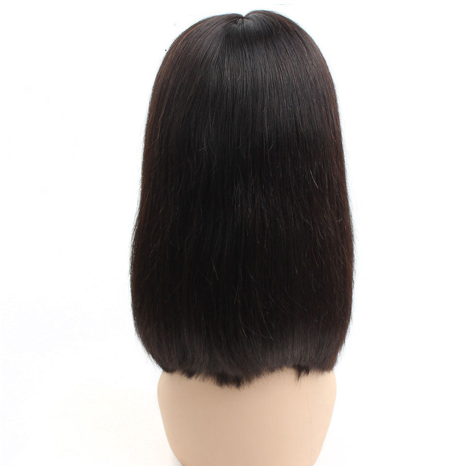 13*4 Short Bob Straight Wig, Human Hair Lace Front Wigs For Women Natural Color Wig,Glueless Lace Front Wigs