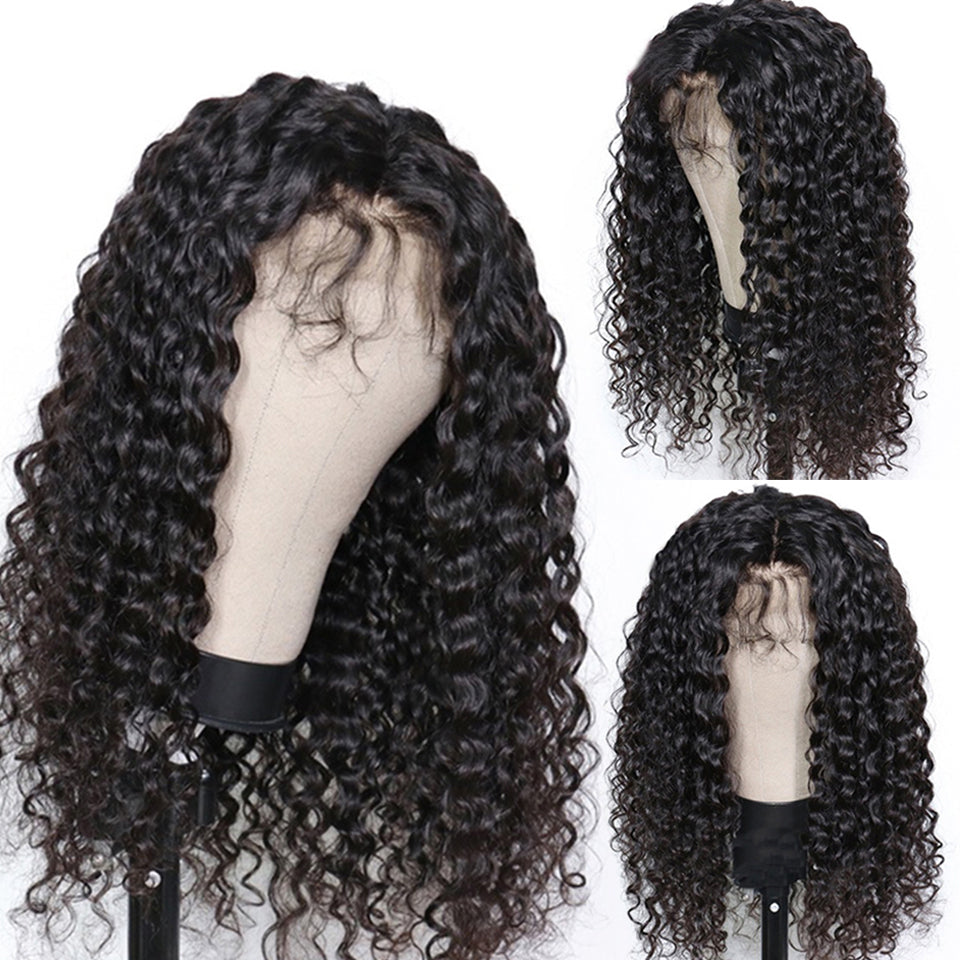 Deep Wave Bob Curly Hair Wig, 13*4 Lace Human Hair Wig, 150%/180% Density
