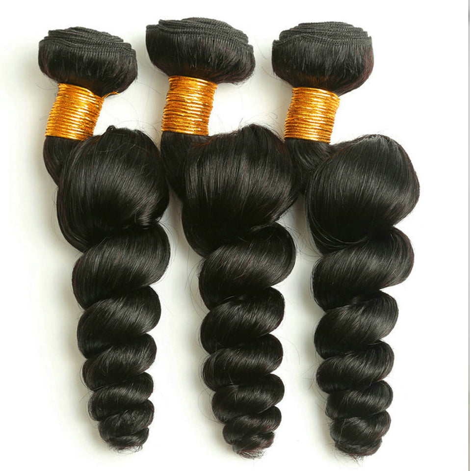 Indian  loose wave human hair weaves 3 bundles, 8-30inch, 8A grade, Natural color