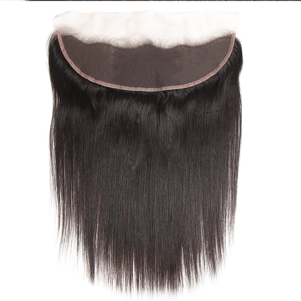 13*6/13*4 Ear to Ear Lace Frontal Straight Human Hair Closure