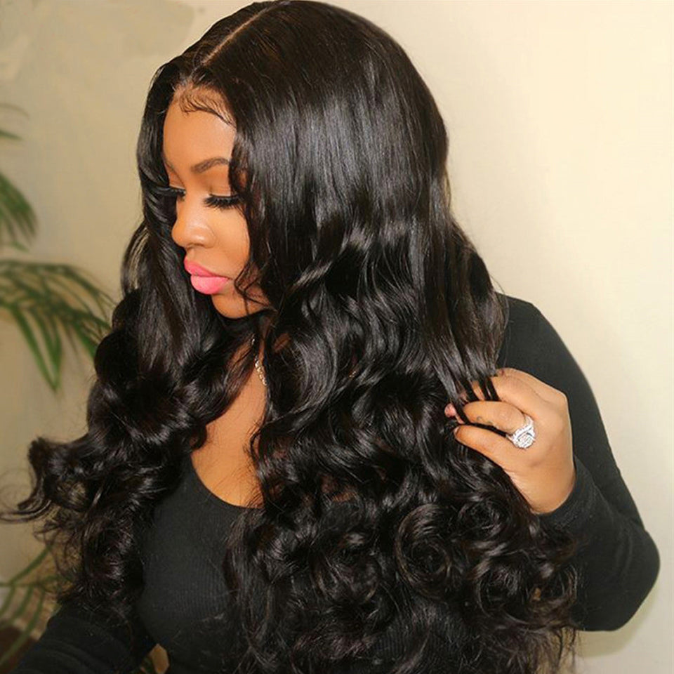 Full Texture 30inch 13*6 Deep Part Lace Frontal Human Hair Wig 180% Density,Glueless Wig