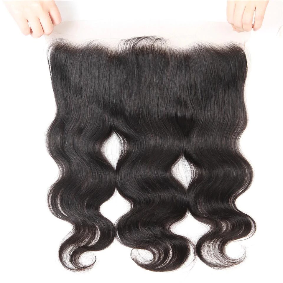 virgin indian body wave  3 bundles with 13*4/13*6 Lace Frontal Closure