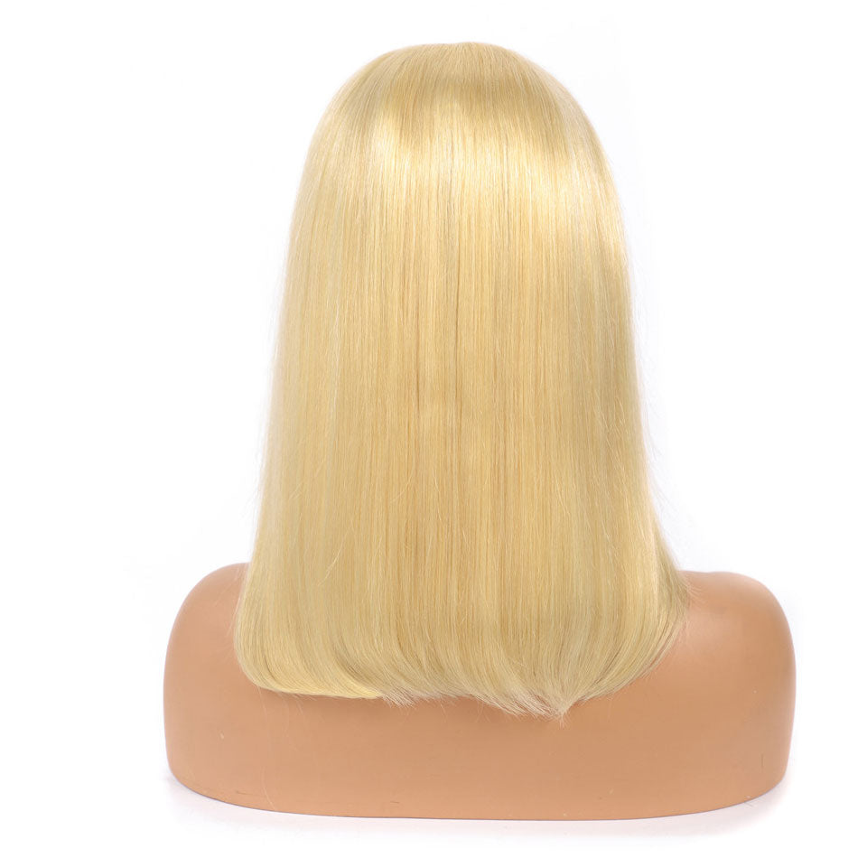 613 Color Blonde Hair Short Bob Wigs Human Hair Wigs Short 13*4 Lace Front Wigs