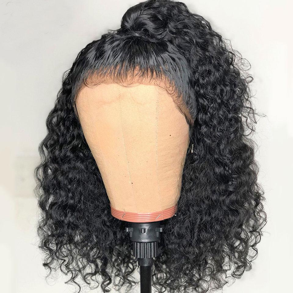 13*6 Short Bob Curly Hair Wig, Virgin Human Hair Lace Front Wigs,150%/180% Density