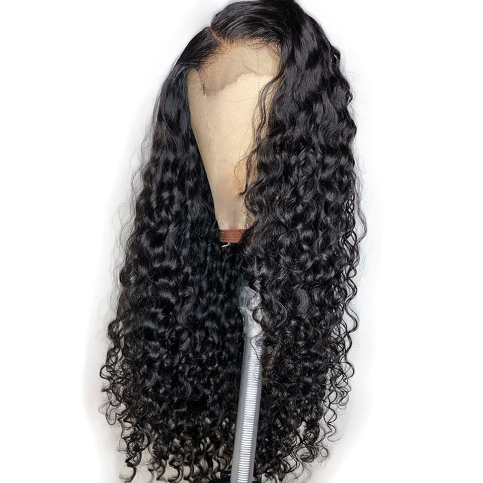 Water Wave 360 Frontal Lace Human Hair Wig, 150%/180% Density, 10inch-26inch
