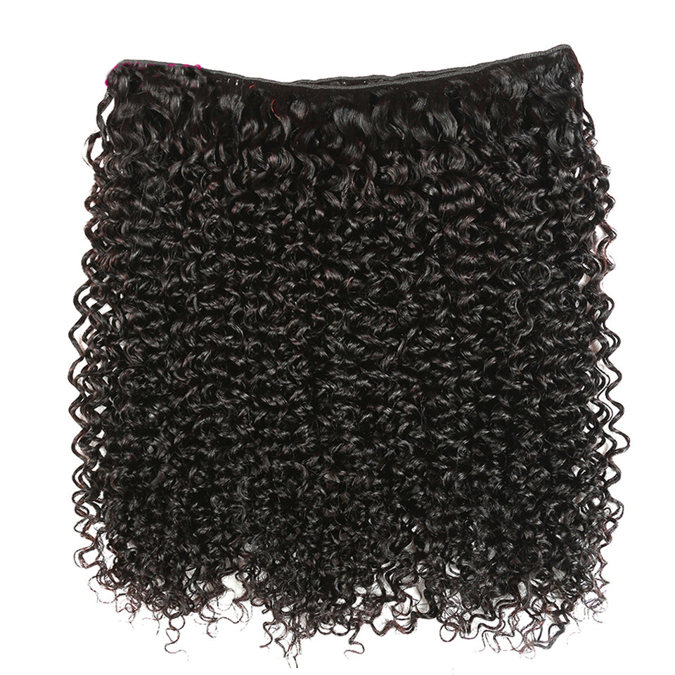 3 Bundles Virgin Malaysian Curly Hair Weaves with Lace Closure, 4*4/5*5 FREE PART CLOSURE
