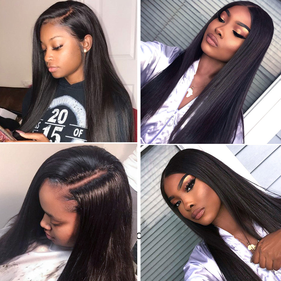 Indian Straight Hair 3 Bundles with 4*4/5*5 Lace Closure