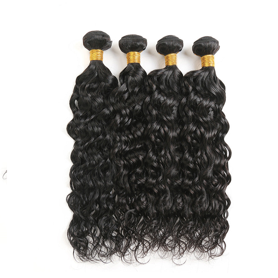 virgin peruvian hair water wave 4pcs/lot, 8A Grade, 100% virgin human hair weaves