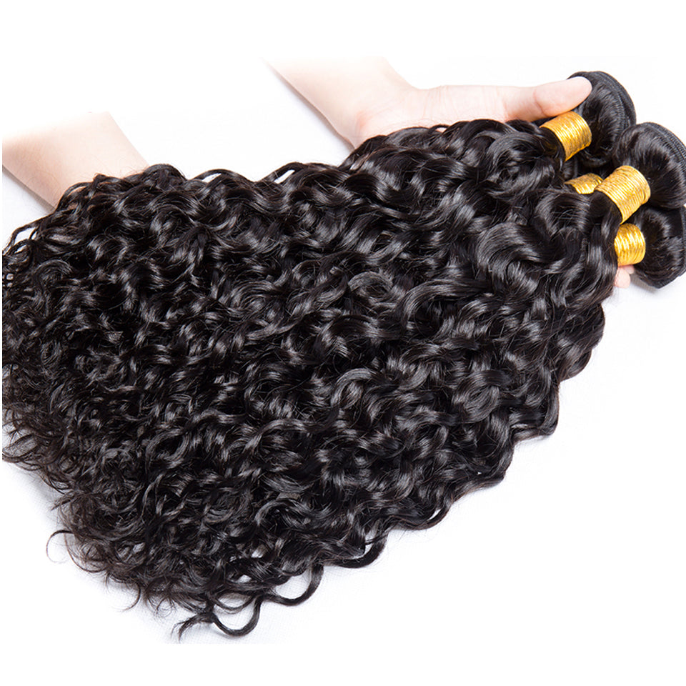 Virgin malaysian water wave human Hair weaves 3 Bundles Deals