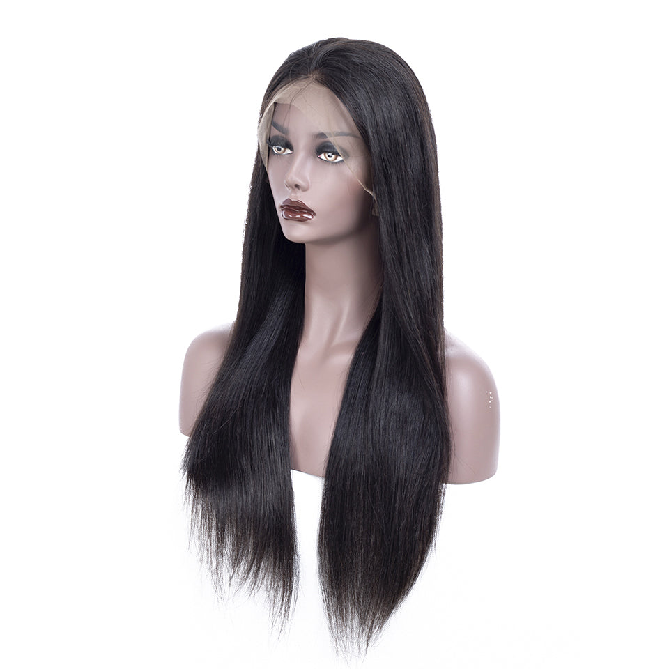 13*6 Deep Parting Lace Front Wigs, Straight Hair, Frontal Human Lace Front Wigs With Baby Hair, Pre Plucked Swiss Lace Wigs