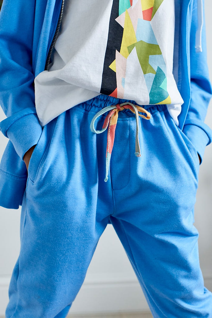 Jersey Relax Fit Jogger - Blue