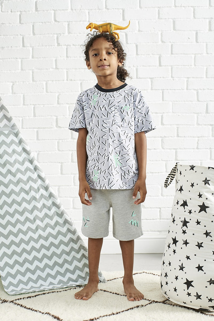 Boys Jersey Relax Fit Short - Grey