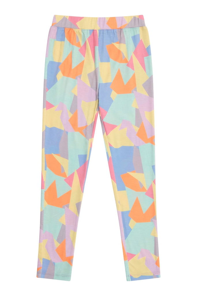 Abstract Shape Print Leggings - Multi