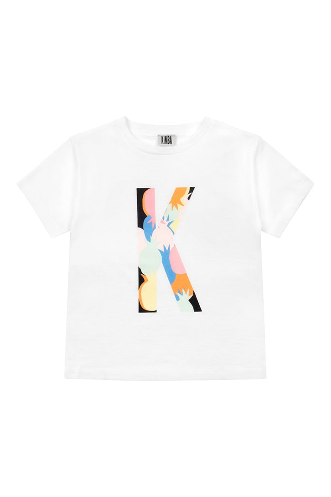 'K' Pineapple Print T-Shirt - White