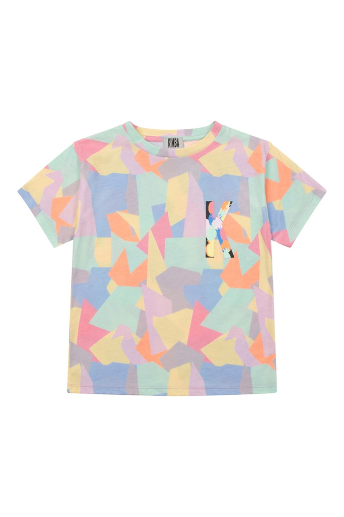 Girls Abstract Shape Print T-Shirt - Multi