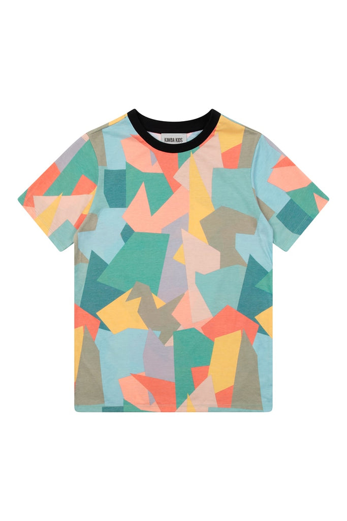 Boys Abstract Shape Print T-Shirt  - Multi