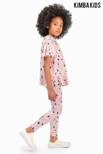 Kimba Kids by Kimberley Walsh Printed Pink Legging