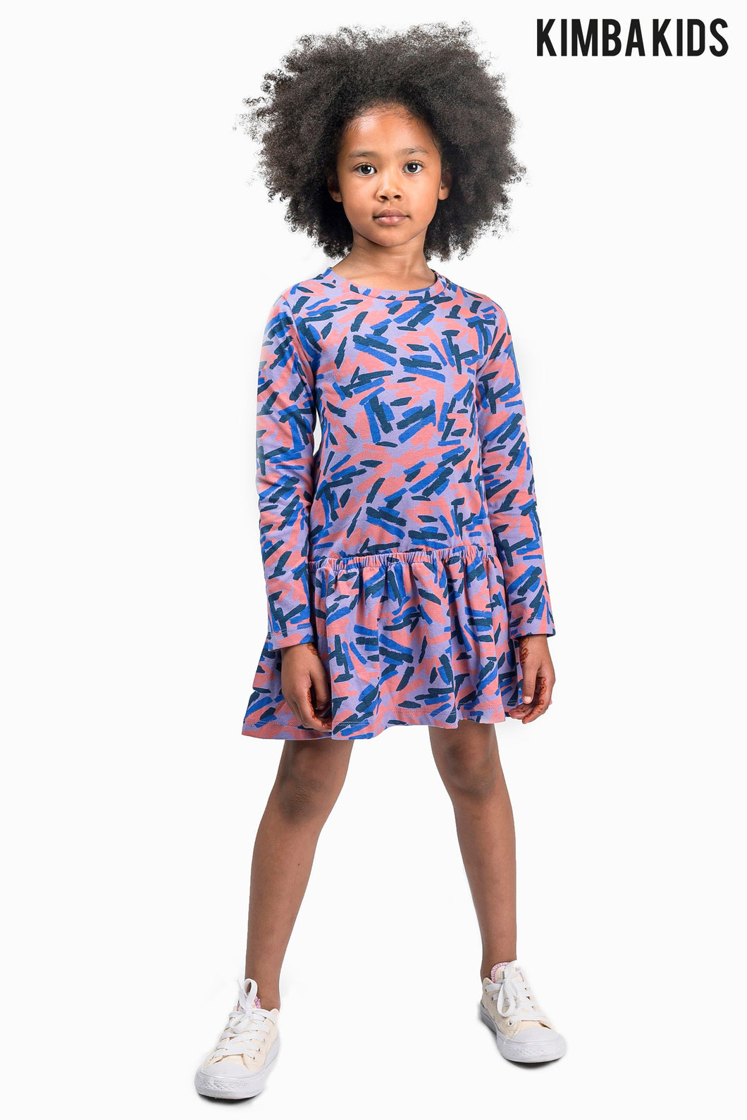 Kimba Kids by Kimberley Walsh Printed Drop Waist Dress