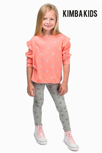 Kimba Kids by Kimberley Walsh K Grey Print Legging
