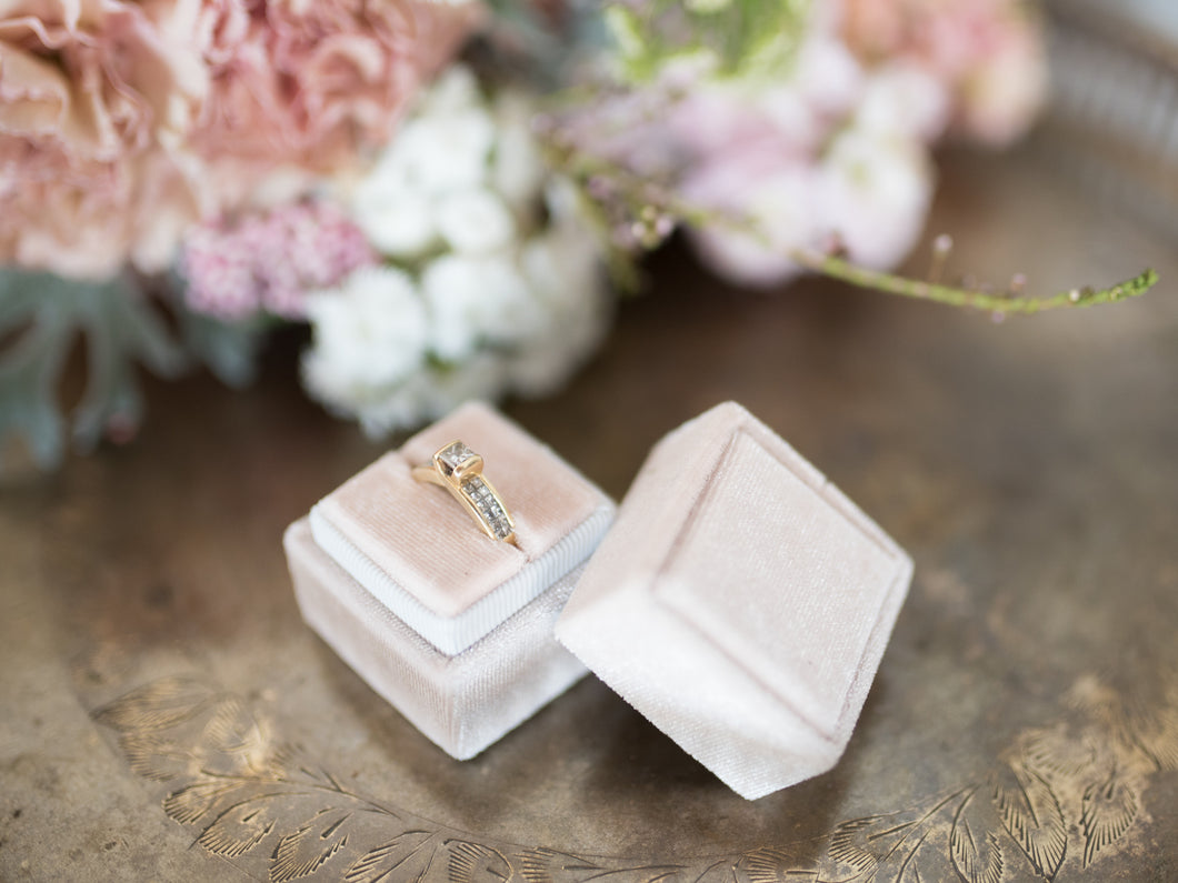 Velvet Ring Box | Soft Pink
