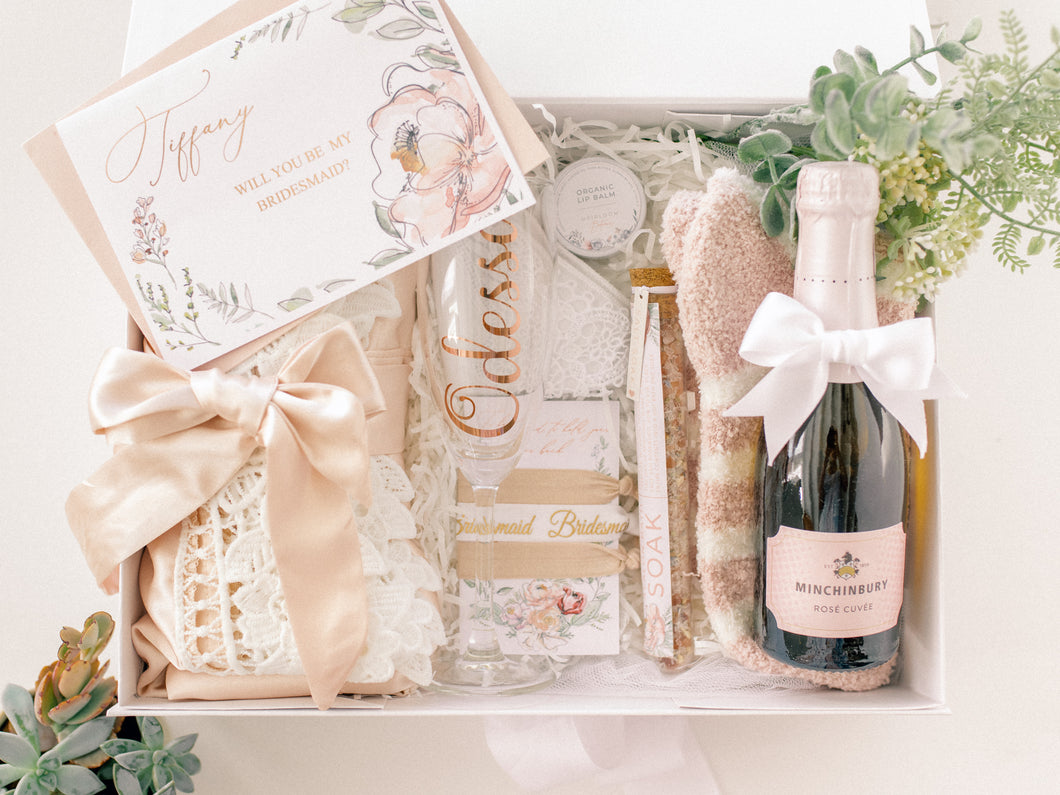 Blushing Bridesmaid Gift Box