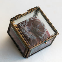Load image into Gallery viewer, Heirloom Bride Custom Embossed glass ring box | French Crest
