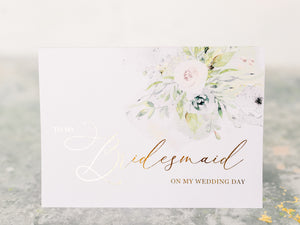 Greeting Card | To my Bridesmaid, on my wedding day