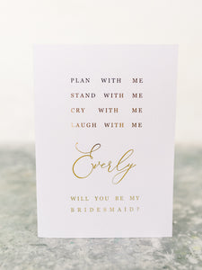 Greeting Card | Bridesmaids proposal card