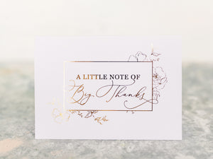 Greeting Card | A little note of big thanks
