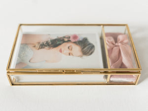 Heirloom Glass Print and USB Box in Gold, Rose Gold or Silver