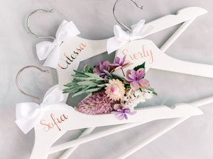 Personalised Bridal Coat Hangers | White