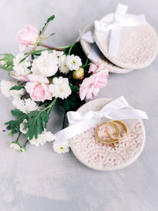 Handmade Ceramic Ring dish | Blush
